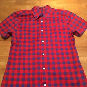 88eeb3a5692 Louis Vuitton Masai Check Short Sleeve Shirt- M